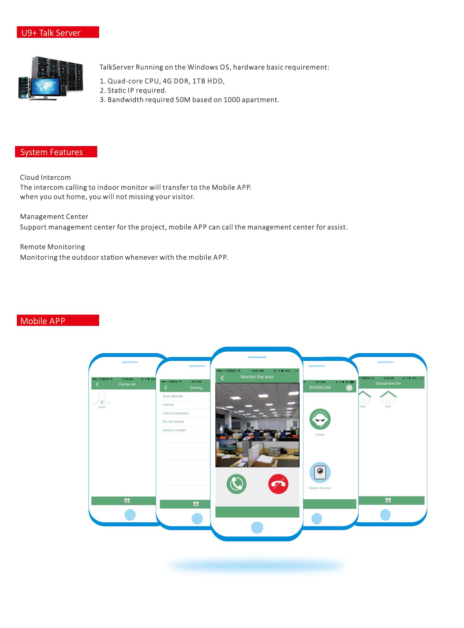 Tcc Cloud Intercom System Zhuhai Taichuan Cloud Technology Co Ltd